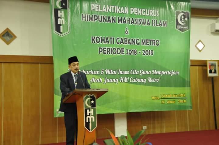 Gubernur Lampung Lantik Pengurus HMI Kota Metro