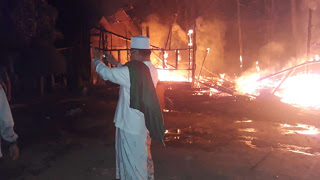 Pondok pesantren ushuludin penengahan, terbakar