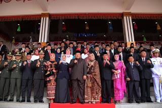 Gubernur Lampung Arinal Djunaidi menghadiri Rapat Paripurna HUT RI ke 74