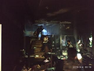 Ruang Administrasi RS Bob Bazar Ludes Terbakar,Diduga Api Berasal Dari Arus Pendek
