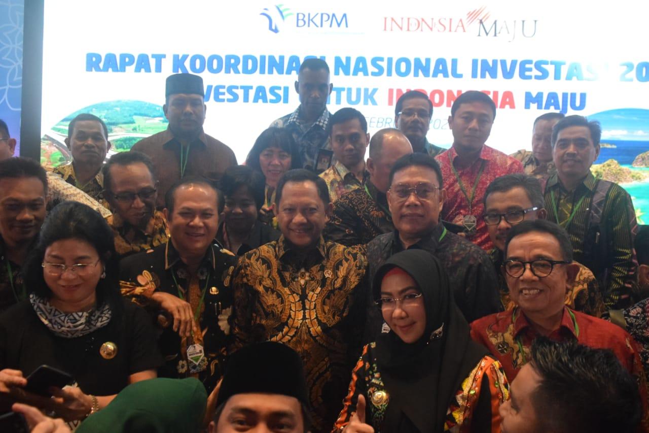 Bupati Hadiri Rakornas Investasi 2020 di Jakarta