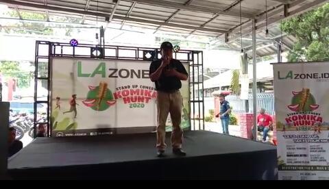 Bakal calon Wali Kota Metro datang Di Audisi Stand Up Comedy Komika Hunt 2020