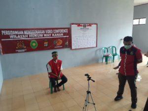 Kejari Way Kanan Menggelar Sidang Melalui Sarana video Conference
