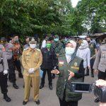 Wakil Gubernur Lampung Kunjungan Lapangan Tim Gugus Tugas Penanggulangan Covid-19 di Lampura