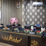 DPRD Way Kanan Gelar Paripurna Terbatas,Penyerahan LKPJ Kepala Daerah Tahun 2019