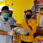 TEC Berikan Bantuan Sembako, Masker dan Hand Sanitizer untuk Honorer, Nelayan, dan Pengurus GOLKAR Lampung Selatan