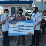 DLH Lampura Terima Bantuan dari Bank Lampung Cab. Kotabumi, Plt Bupati Lampura Apresiasi