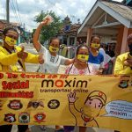Lakukan Aksi Cegah Corona, Maxim Lampung Bagikan 1000 Masker Gratis UntukWarga