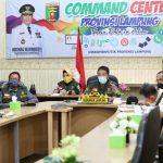 Gubernur Arinal Lakukan Rakor dengan Ketua Gugus Tugas Pusat Doni Monardo, Sampaikan Kemajuan Penanganan COVID-19 di Provinsi Lampung
