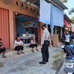 Satbinmas Polres Lamsel Imbau Warga Mentaati Protocol Pencegahan Covid-19 di Pasar Inpres Kalianda