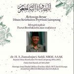 Mantan Kadis Kesehatan Lampung, Warek Umitra Indonesia, Zamahsjari,  Berpulang