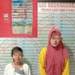 Nyambi Jualan Sabu, Dua Ibu Muda Diringkus Satres Narkoba Polres Lampura