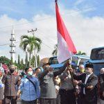 Wiyadi Lepas Kepergian Ratusan Santri Gontor ke Pondok Pesantren