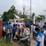 Ratusan Buruh SPAI-FSPMI Demo 3 Perusahan di Ranggai