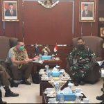 Kapuskersin TNI Terima Kunjungan Kerja Atase Pertahanan Australia