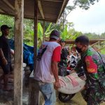 Bersama Warga, Babinsa Koramil 421-9/Tanjung Bintang Bangun Rumah Ibadah