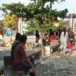 Taman Wisata Pantai Muara Indah Ramai Pengunjung Walau Belum Resmi Dibuka