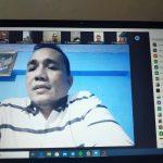 Ketua PW IWO Lampung Ikuti Zoom Meeting, Optimalkan IWO di Era New Normal.