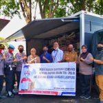 Peduli Dampak Covid - 19, JNE Bandar Lampung Ulurkan Bantuan ke Dapur Lapangan TNI POLRI dan Pemko