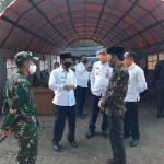 Ketua DPRD LU Sambut Kedatangan Danrem 043, Kunjungi Posko Covid-19 Pasar Sentral