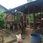 Percepatan Pembangunan Bedah rumah Koramil 421-10 Katibung, Terjunkan 2 Personil