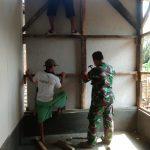 Progres Pembangunan Bedah Rumah Swadaya Koramil 421 - 10 KTB Capai 70 %.