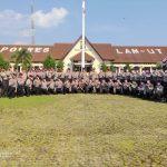 Dir Samapta Polda Lampung Kunjungi Polres Lampura Dalam Rangka Penilaian Lomba Dalmas