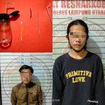 Sedang asik nyabu, Dua pemuda di Tangkap Tim Cobra Polres Lampura