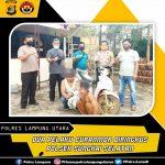 Dua orang pelaku Curatmor Berhasil di Tangkap Polsek Sungkai Selatan