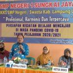 Plt Kadisdik Lampura, Ir. Mikael Saragih, MM Menghadiri Rapat MKKS di SMPN 01 Sungkai Jaya