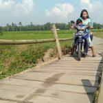 Jembatan Penghubung Dua Desa Memperihatinkan