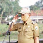 Wabup Pringsewu Pimpin Apel Aparatur Pekon se Kecamatan Gadingrejo