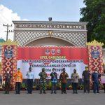 Wali kota Metro Pimpin Apel Gabungan Sosialisasi Covid 19