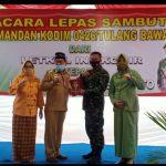 Acara lepas sambut Dandim 0426/ tulang bawang dari letkol Inf Kohir kepada letkol kav Joko Sunarto berjalan hikmat