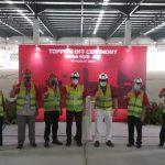 Topping Off Pembangunan Mega Hub JNE