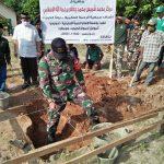 Babinsa Koramil 421-09/TB Hadiri Peletakan Batu Pertama Masjid Al-Ittihad Dusun IV Desa Kertosari Kecamatan Tanjung Sari