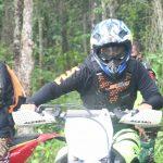 Dandim 0421/Lampung Selatan Trabas Medan Tulang Bawang Barat. Bareng Pangdam II /SWJ Dan Comonitas Trail Motor Cross.