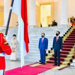 Presiden Jokowi Sambut Kunjungan Resmi PM Jepang Yoshihide Suga di Istana Bogor