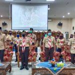 Kwarcab Pringsewu Ikuti Upacara Peringatan Hari Sumpah Pemuda Dan Apel Kesiapan Relawan Pramuka Peduli Tahun 2020