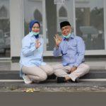 Eki Setia Temani Sang Istri, Melin Ambil Nomor Urut Paslon