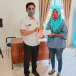 Kampung Dewa Agung,Salurkan BLT DD Dengan Menerapkan Protokol Kesehatan