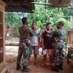Danpos Koramil 427-04/Bahuga Himbau Masyarakat Patuhi Protokol Kesehatan