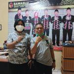 Ketua DPC LSM Pijar Keadilan Sambangi Devisi Bawaslu Lam-tim Terkait penyelidikan Oknum Kades Mengandung Sari.