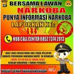 Punya Informasi Narkoba, Laporkan ke Call Center Satres Narkoba Polres Lampung utara