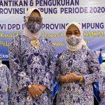 Dwita Ria, Dukung IWAPI Propinsi Lampung untuk Meningkatkan Kreatifitas dan Inovasi pelaku UMKM dalam  Pelayanan Tranformasi Digital