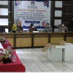 Rekapitulasi penghitungan suara KPU kabupaten Lampung timur di bagi 3 sesi