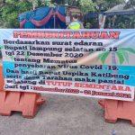 Uspika kecamatan Katibung Tutup Sementara Objek Wisata Jelang Malam Perayaan Pergantian Tahun