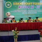 Bupati Lampura, Hi. Budi Utomo, SE., M.M. Menghadiri Wisuda 105 Mahasiswa STAINU Kotabumi