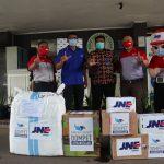 JNE distribusikan 100 Ton bantuan Covid ke lebih dari 1.200 Faskes dan 1135 lembaga dan perorangan di seluruh Indonesia selama Tahun 2020