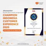 RUMAH ZAKAT RAIH PENGHARGAAN CUSTOMER EXPERIENCE CHAMPION DAN TOP 3 DIGITAL MARKETING CHAMPION 2020